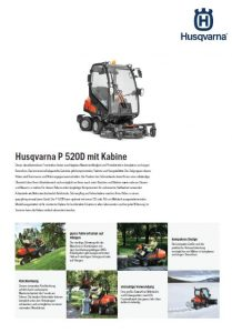 Husqvarna P 520D Frontmaeher mit Kabine