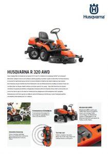 Husqvarna R 320 AWD Rasenmaeher