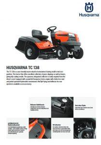 Husqvarna TC 138 Rasentraktor